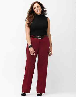 """New! Lane Bryant """"The Lena"""" Red Trouser W/ Tighter Tummy Technology Plus Size 26"""