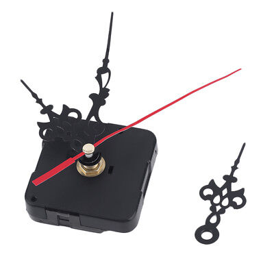 Black Quartz Wall Clock Movement Mechanism Hands Repair Parts Tool DIY Silent UK