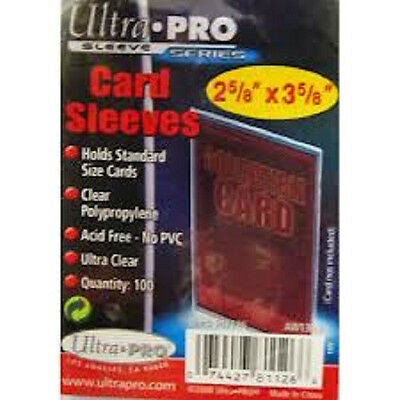 500 Ultra Pro Standard Penny Soft Card Sleeves New Acid Free No PVC