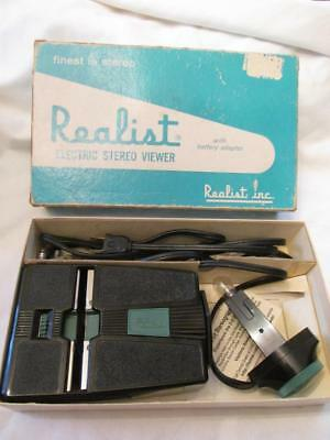 Vintage Realist Electric Stereo Viewer #2062 - Comp w/Orig Box & Papers - Works