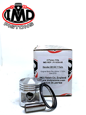 HONDA CB125T TWIN TDC PISTON KITS (2) NEW P11039-00 Standard STD CM125