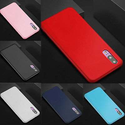 Ultra Slim Shockproof Silicone Matte Gel Case Cover For Huawei P20 Lite Pro UK