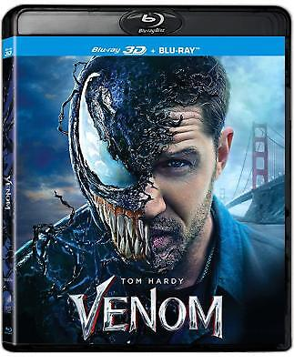 VENOM (3-D & 2D)  Blu Ray - Sealed Region B for UK