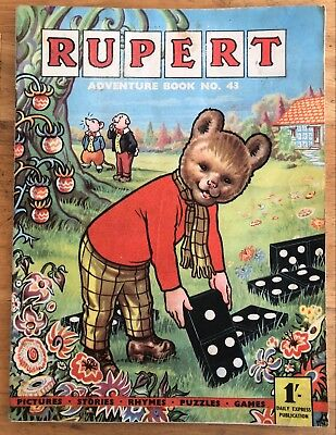 RUPERT Adventure Series No 43 Rupert Adventure Book 1960 VG PLUS JANUARY SALE!