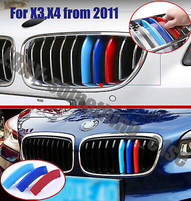 BMW x3/x4,F25/F26,2011-2017,Kidney Grille M power tri-Color Cover/Cap/Clip/strip