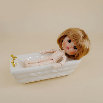 MagiDeal 1/12 Dollhouse Miniature Furniture Ceramic Bathtub Model Bathroom