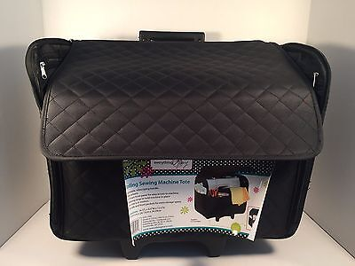Rolling Sewing Machine Tote Everything Mary Black Quilt EVM-7550