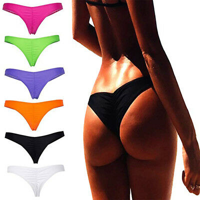 Sexy Womens Bikini Bottoms Brazilian G-String Beachwear Swimsuit Underwear US