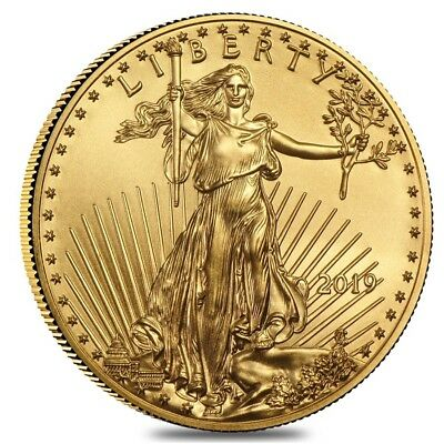 2019 1/10 oz Gold American Eagle $5 Coin BU