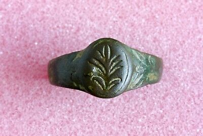 Authentic ANCIENT ROMAN ARTIFACT BRONZE RING - Metal detector found 03