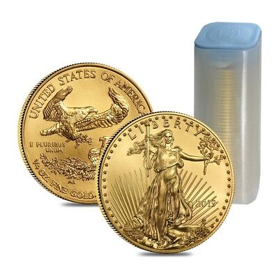 Roll of 40 - 2019 1/4 oz Gold American Eagle $10 Coin BU (Lot, Tube of 40)