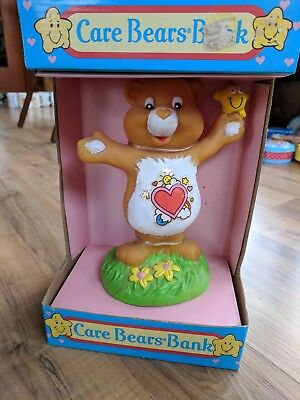 1991 Tenderheart Bear Care Bears Vinyl Coin Bank