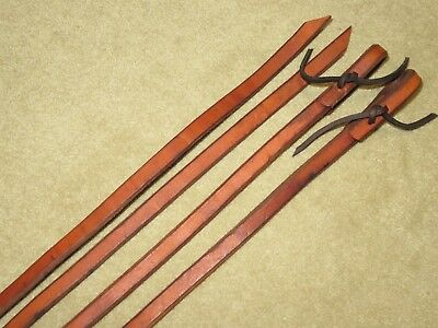 """EUC Supple HIGH QUALITY Western Med Oil HARNESS LEATHER Reins 1/2"""" x 75"""" Long"""