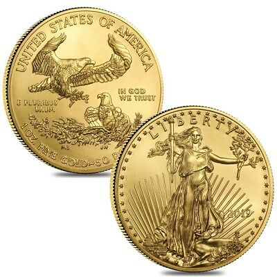 Lot of 2 - 2019 1 oz Gold American Eagle $50 Coin BU