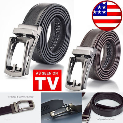 COMFORT CLICK Leather Belt Automatic Adjustable Xmas Men Gift As Seen On TV US