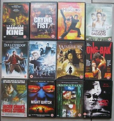 Martial Arts DVD Job Lot - Nightwatch Ong-Bak Jackie Chan Jet Li Animatrix