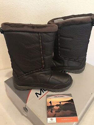 f1655137703 COLUMBIA LISA WATERPROOF Leather Boots Tobacco Brown Women's Size 6 ...