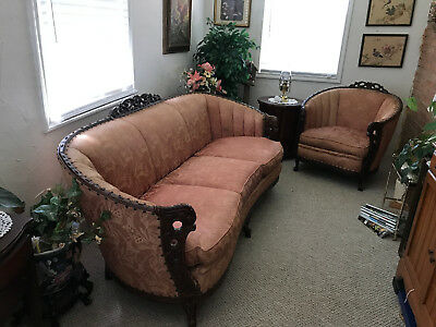 Antique Waldorf sofa and chair