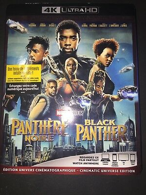 Black Panther BLU RAY Movie 4K UltraHD + Slipcove r/ New (STEF-2 / STEF-01)