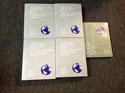 2000 FORD TRUCK Excursion F250 350 450 550 Service Shop Repair Manual Set NEW