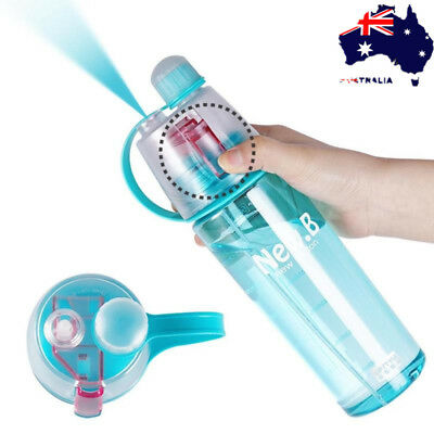 600ml Sport Yoga Cycling Mist Spray Water Gym Bottle Leak-proof Drinking Cup