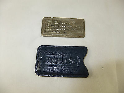 Vintage Charga-Plate Joske's Department Store Charge Card Advertising