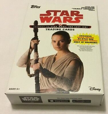 2017 Topps Star Wars Journey to The Last Jedi EXCLUSIVE Sealed Hanger Box.