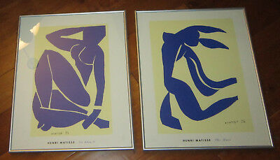"""Two scarce 1991 Henri Matisse """"Blue Nudes"""" lithographs"""