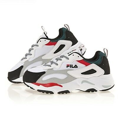 New FILA Ray Shoes Disruptor Athletic Running Men Black Green Red FS1SIA3110X