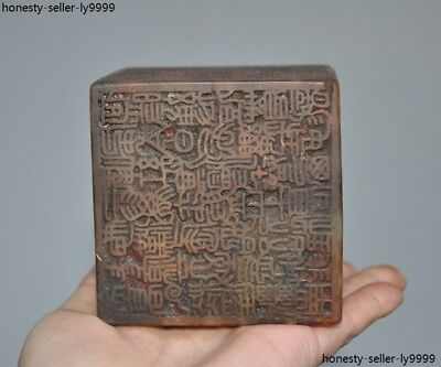 China Dynasty ancient Shoushan Stone Hand Carved 6 Side Seal Stamp Signet statue