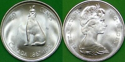 1953-1955 Canada Silver Half Dollars Graded as Brilliant Uncirculated