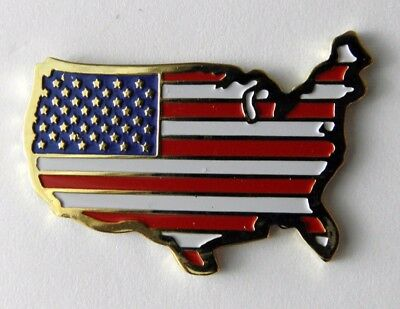 United States Usa Flag Map Emblem Lapel Hat Pin Badge 1.1 Inches