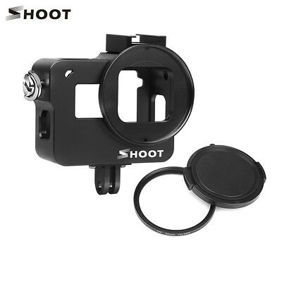 For Gopro Hero 7 Black Camera Protect Housing Cage Case+52mm UV Lens Filter