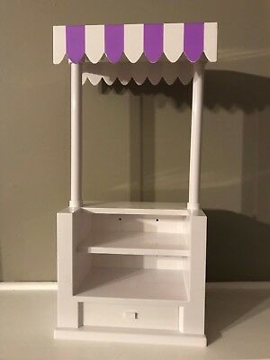 "18"" Doll Concession   Stand, Purple & White"