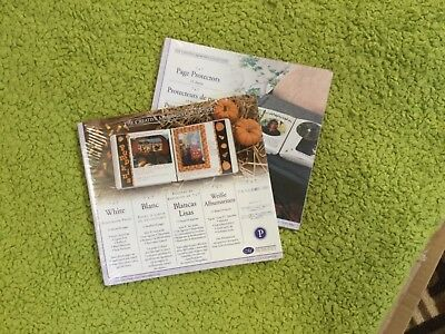 Creative Memories 7x7 White Scrapbooking Pages & Protectors