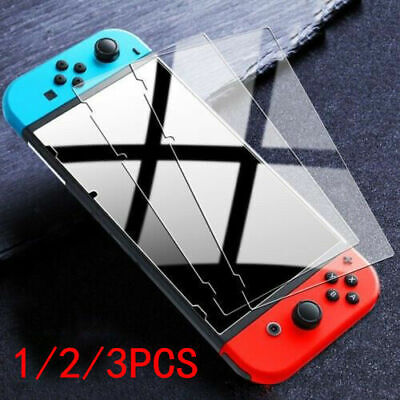 [3 Pack] Premium 9H Tempered Glass Screen Protector Guard For Nintendo Switch A+