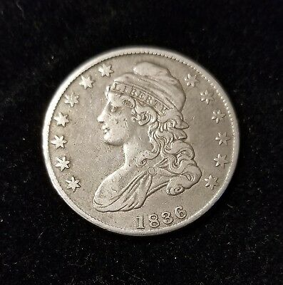 1836 Capped Bust 50C. half dollar