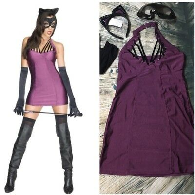 DC Comics Sexy Cat Woman Complete Costume Size S NEW Comic Con Halloween