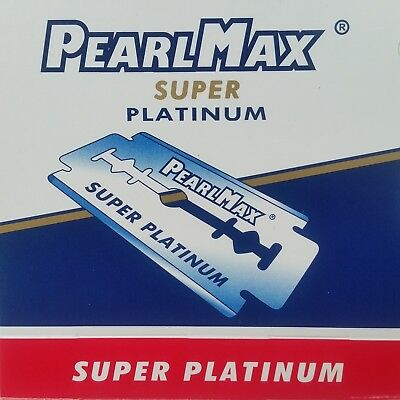 100x PearlMax Razor Blades Super Platinum Double Edge, Safety Razor Shave