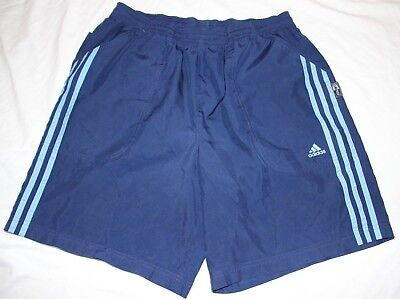 Men's Large Adidas ClimaLite 100% poly navy blue lightweigh running shorts- EUC!
