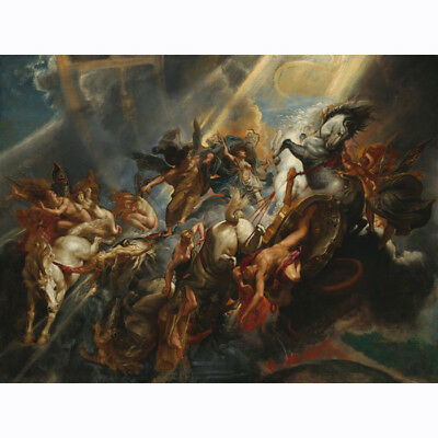 THE FALL OF PHAETHON GREEK MYTHOLOGY HD CANVAS PAINTED Oil Painting WALL DECOR