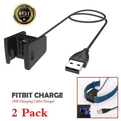 2PCS Charger For Fitbit CHARGE 2 Activity Wristband USB Charging Cable Cord Wire