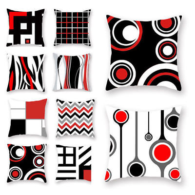 Vintage Geometric Pattern Polyester Pillow Case Waist Cushion Cover Home Deco