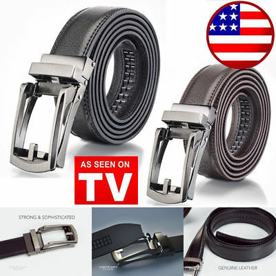 HOT! COMFORT CLICK Leather Belt Automatic Adjustable Men As Seen On TV US Stock