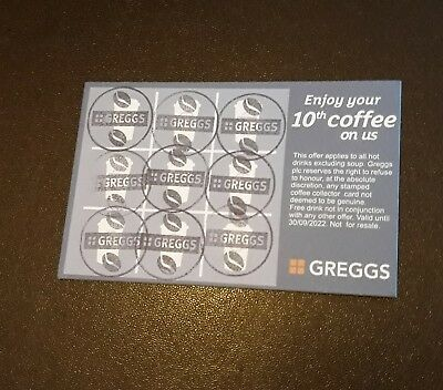 ☆GREGGS☆ 28 full cards dated until 2022 £10.00