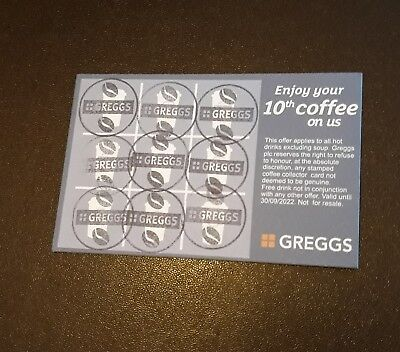 ☆GREGGS☆ 28 full cards dated until 2022 £11