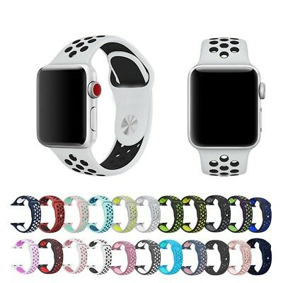 Silicone Soft Sport Wrist Band for Apple Watch Series 4 3 2 38mm 42mm 40mm 44mm