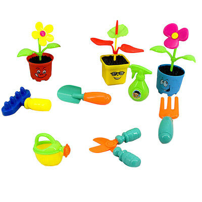 MagiDeal 9pcs/set Kids Plastic Pretend Play Educational Toy - Garden Tool
