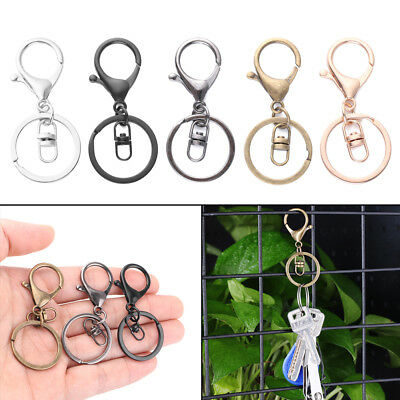 5PCS DIY Swivel Jewelry Making Clips Lobster Clasp Key Chain KeyRing Split Ring