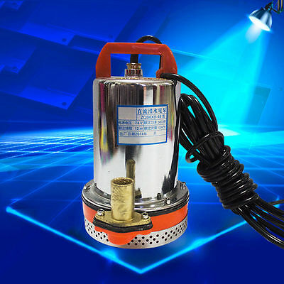 DC 24V / 12V Solar Powered Submersible Deep Water Well Pump Farm Ranch Pool Pond